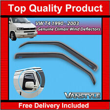 VW T4 TRANSPORTER & CARAVELLE GENUINE CLIMAIR FRONT WIND DEFLECTORS QUALITY TINT