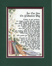 #142 Gift Present Keepsake Poem for your son's graduation.