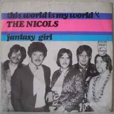 "The NICOLS This world is my world (LISTEN) RARE 7"" 1968 pop - nederbiet HOLLAND"