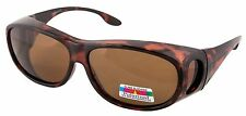 POLARISED OVER GLASSES SUNGLASSES WEAR OVER PRESCRIPTION GLASSES TORTOISESHELL