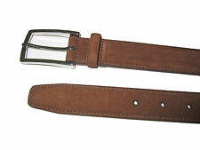 Purple Label Ralph Lauren Polo Brown Suede Leather Silver Buckle Belt 36