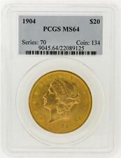 1904 PCGS MS64 $20 Liberty Head Double Eagle Gold Coin Lot 304