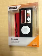 Griffin FlexiGrip Red & Black Silicone Case Cover for Apple Ipod Nano 4G 4th Gen
