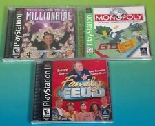 Family Feud Monopoly Be a Millionaire Playstation 1 2 PS1 PS2 Rare Games Complet