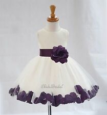 ROSE PETAL FLOWER GIRL DRESS JUNIOR TODDLER PAGEANT WEDDING BRIDESMAID FLORALS