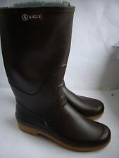AIGLE CHAMBORD PRO D.BROWN WOMENS WELLINGTON BOOTS QUALITY WELLIES UK 6.5 EUR 40