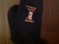 YORKSHIRE TERRIER MUMMY SOCKS BIRTHDAY GIFT PRESENT SIZE 6 TO 8 MUM YORKIE PET