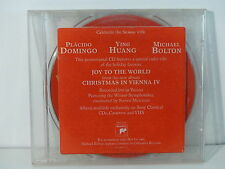 CD Single promo CHRISTMAS IN VIENNA Joy to the world PLACIDO DOMINGO YING HUANG
