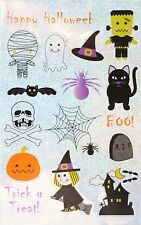 Zest 10 Sheets of Halloween Stickers Mummy Ghost Hat Monster