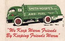 Old Print. Smith-Hoopes Inc Amo Fuel - Matchbox Cover Ad Art