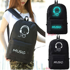 Fashion Men Women Backpack Luminous Schoolbag Rucksack Satchel Canvas Travel Bag