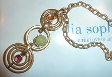 "NWT/NIB - LIA SOPHIA ""SORBET"" NECKLACE - ORANGE/LIME/STRAWBERRY & GOLD - $50"