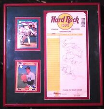 Boston Red Sox Roger Clemens Autograph Hard Rock Cafe
