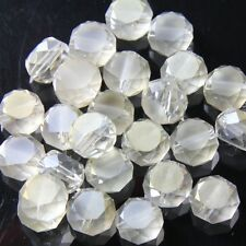 10pcs 10mm Swarovski  Flat drum Crystal beads D silver-champagne