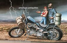 Dave David Mann Biker Art Motorcycle Poster Print Easyriders Middle of Nowhere