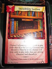 HARRY POTTER TCG CARD CHAMBER OF SECRETS INVISIBILITY SECTION 70/140 UNCO MINT