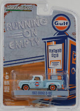 1963 Dodge D-100 running on empty Gulf 1:64 Greenlight