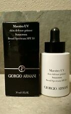 GIORGIO ARMANI Maestro UV Skin Defense Primer Sunscreen  Spectrum SPF50 30ml NIB