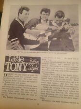 L2-6 Ephemera 1960 Article Pop Star Little Tony Ciacci