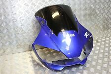 98-02 Yamaha R6 5EB 5MT Blue Front Top Headlight Nose Cone Fairing Cowling Panel