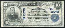 1902 $10 The Commercial Nb Of Rockford, Il National Currency Ch. #11679