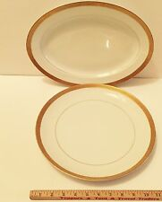 "Chop Plate 12"" & Meat Platter 14"" Fine China Japan # 166 Parliament By Empress"