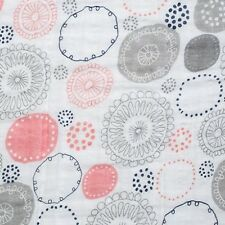 Baumwolle Shannon Fabrics Double Gauze Whimsy Circle coral Meterware Kinderstoff