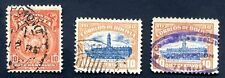 BOLIVIA 1916-19, CONCEPCION Cancels, 3 items including an early oval type FVF