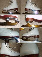 Ice Figure Skates or boots for Quad Roller Skates Riedell 300 Girls Size 13