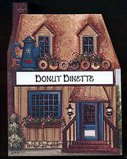 Brandywine Collectible Houses & Shops: DONUT DINETTE Wooden Shelf Sitter