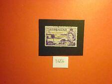 Gibilterra: 1953 Q ELISABETTA II ROSIA Bay & STRAITS 2/s Violetto rossastro vfusg 155