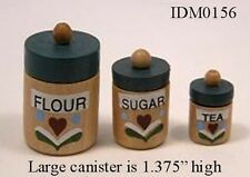 Wooden Canister Set Dollhouse Miniature 1:12 Scale