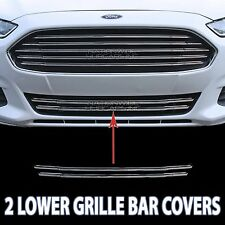 13-16 Ford Fusion CHROME Snap On Grille Overlay Lower 2 Bar Grill Covers Inserts
