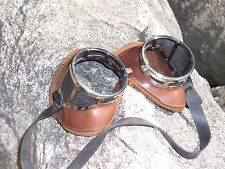 Antique Glass Goggles Aviator Driving Motorcycle Steampunk NFA Vintage