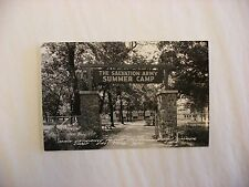 Real Photo Postcard RPPC Salvation Army Summer Camp East Troy Wisconsin WI #824