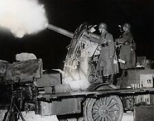 German Soldiers firing Artillery Gun Cannon at night 8 x 10 WW2 II Photo 9P