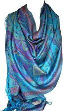 Beautiful Paisley Ethnic Print Pashmina Feel Wrap Shawl Scarf Scarves Hijab