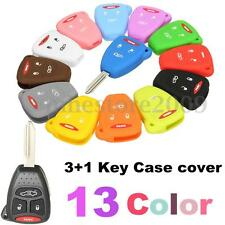 Silicone 4 Button Remote Key Case Fob Protect Cover For Jeep Dodge Chrysler