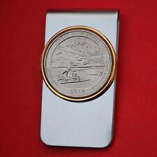 US 2014 Colorado Great Sand Dunes National Park BU UNC Quarter Coin Money Clip