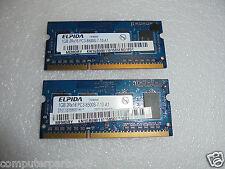 ELPIDA 2GB(2x1GB) 2Rx16 PC3-8500S DDR3-  SODIMM MEMORY EBJ11UE6BBS0-AE-F