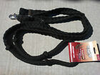 TOUGH-1 BLACK BRAIDED KNOTTED BARREL RACING ROPING REINS WESTERN 7 FEET