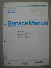 Philips AK100 Lautsprecher Box Service Manual