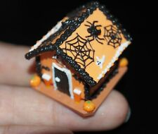 DOLLHOUSE MINIATURES HALLOWEEN GINGERBREAD HOUSE FOOD NIGHT PARTY DOCO 1:12