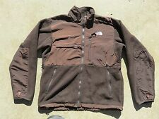 Mens The NORTH FACE Brown Denali Vented Polartec Fleece Sweater Jacket Medium