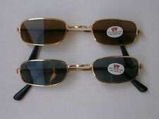Set 2 Retro Sunglasses Style Glasses 80s Design 80 Nerd Vintage N1 Narrow
