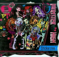 MONSTER High Stickerzine Album ~ include 135 Adesivi ~ BN ~ GRANDE REGALO!