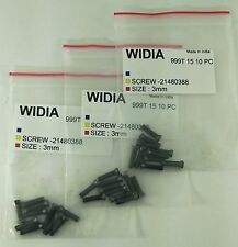 LOT OF 30 TORX SCREWS WIDIA M3X12mm SCREW FOR INDEXABLE INSERT