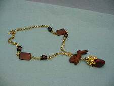 Haskell Sautoir Wooden Beaded Necklace