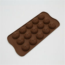 15 Cups Smile Face Shape Silicone Chocolate Mold Ice Candy Mould Baking Tool