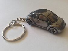 VW New Beetle ref302 FULL CAR on a split-ring keyring